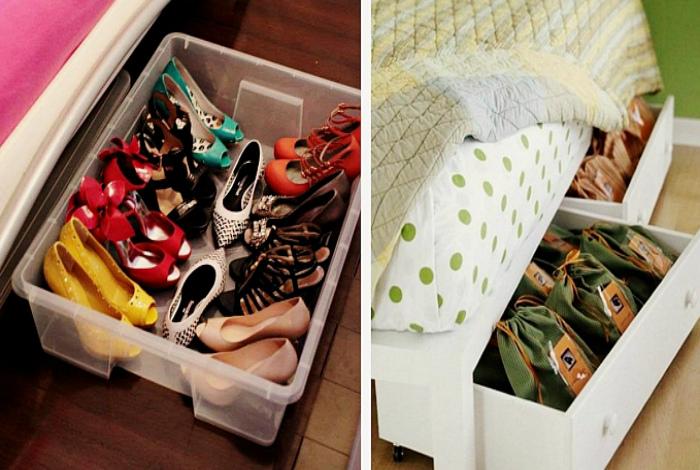 Выдвижные шкафчики под кроватью. | Фото: Matchness.com.