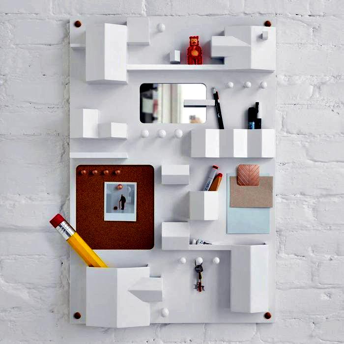 Настенный органайзер. | Фото: Pinterest.