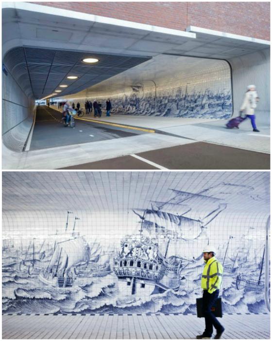 По мнению Novate.ru, это самый красивый подземный переход. | Фото: Тролльно.