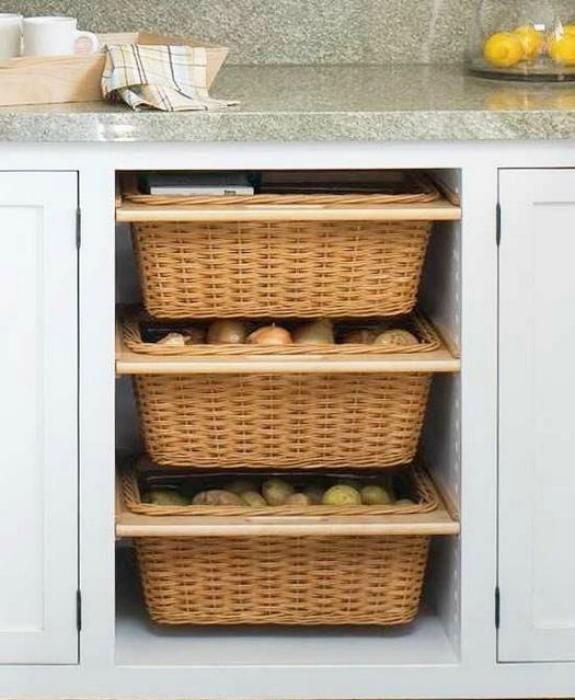 Открытый стеллаж для овощей. | Фото: Golbis.