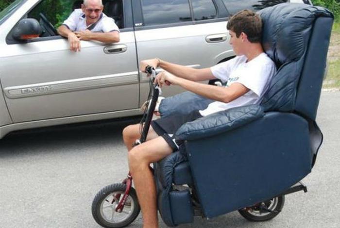 Апгрейдил личный транспорт.