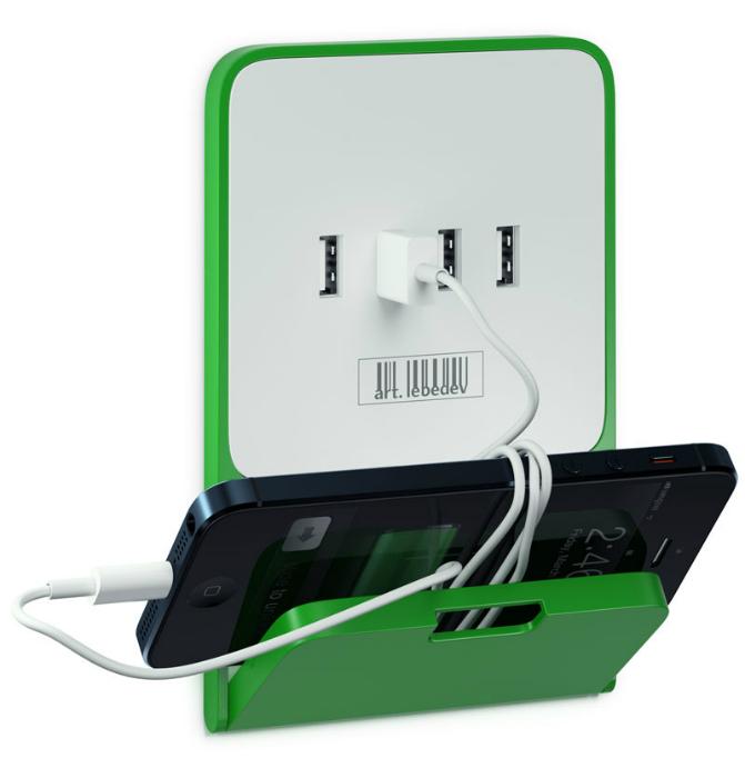 La pared del USB-socket.