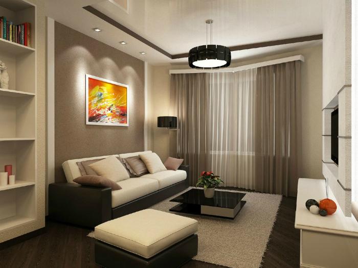 Дизайны гостиной в маленьких квартирах