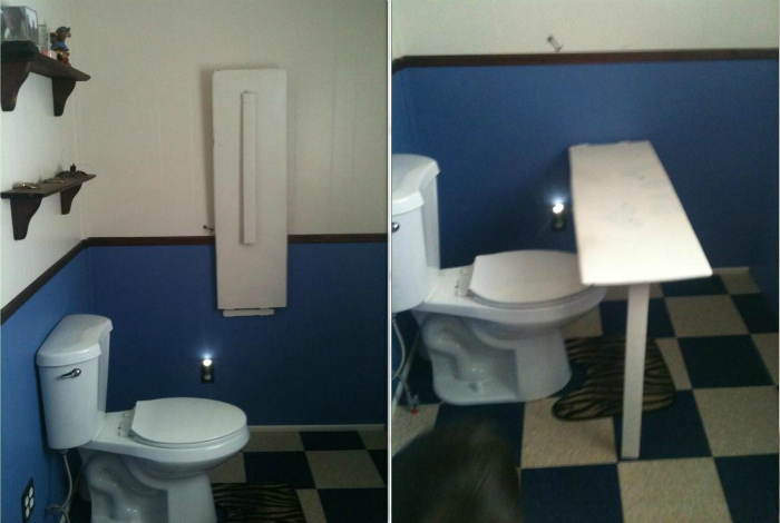 Столик в туалете. | Фото: Taringa!