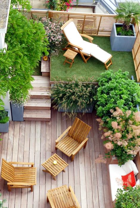 Двухъярусное патио. | Фото: Garden Ideas.