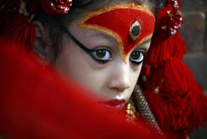 Девочки богини в Непале. | Фото: NTV.