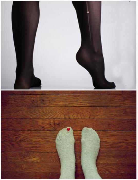 Колготки и носки с дырками. | Фото: Mujer Radiante.
