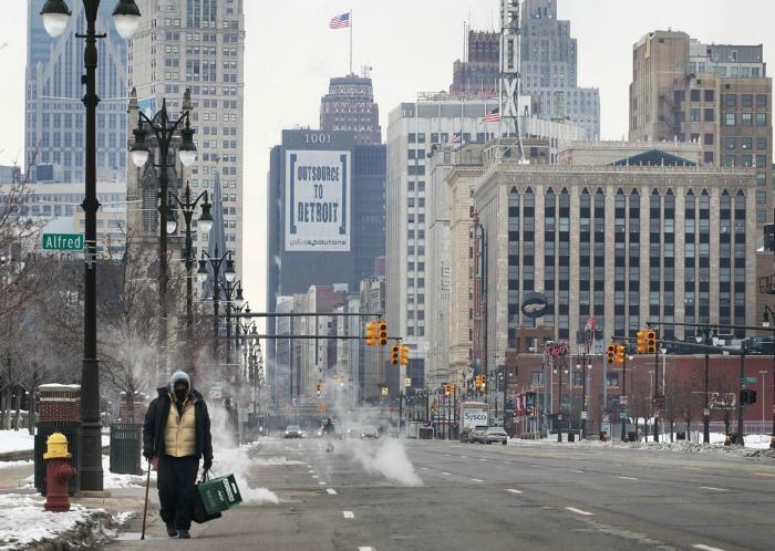 Крупнейший город штата Мичиган.