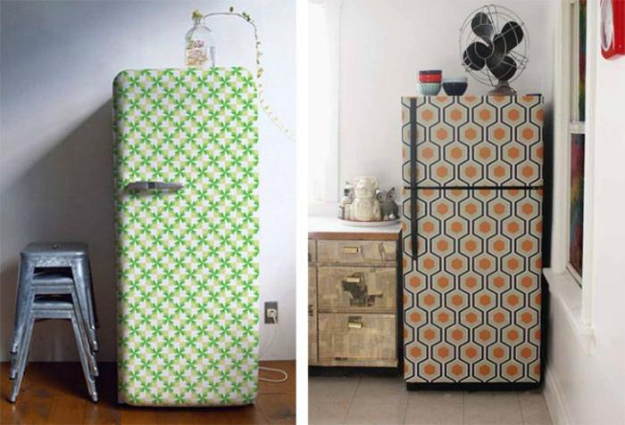 Креативный декор холодильника.