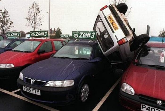 Плотная парковка.
