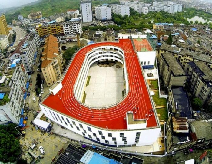Стадион на крыше.