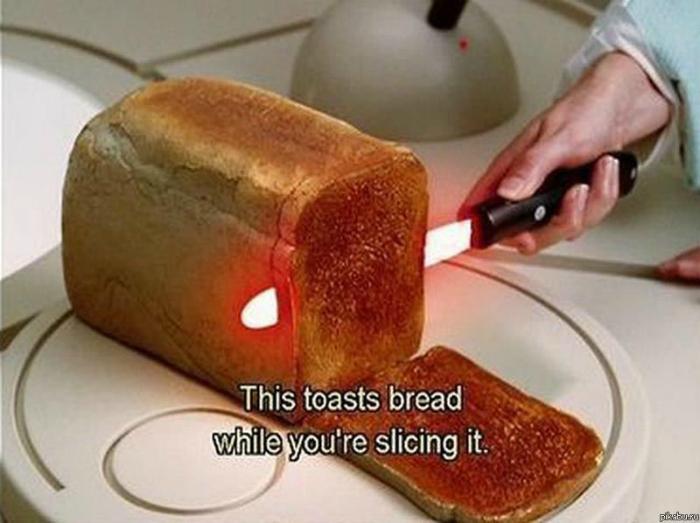 Горячий нож для приготовления тостов.