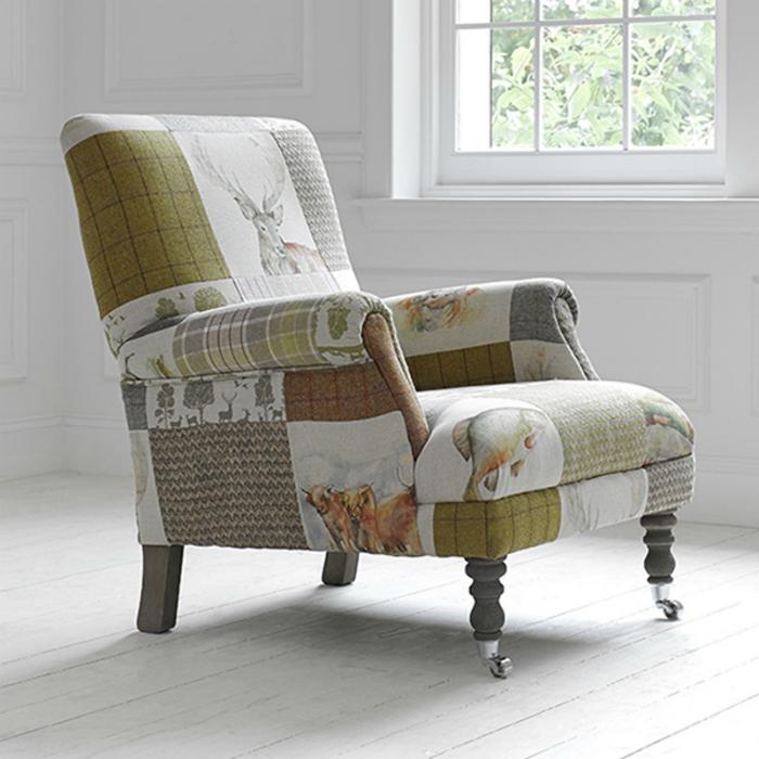 Кресло в стиле пэчворк.