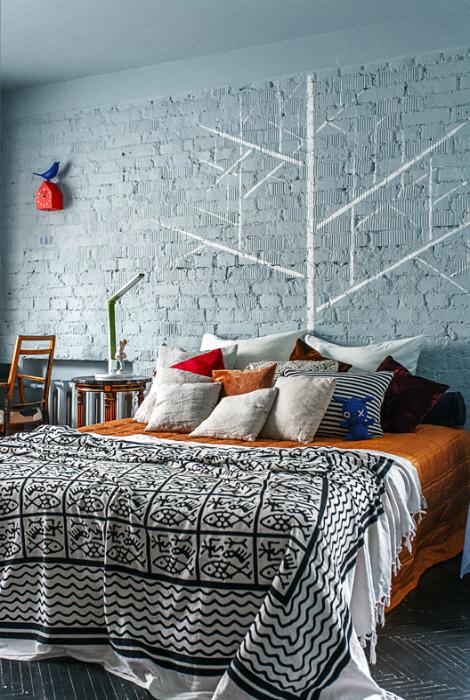 Спальня в скандинавском стиле.