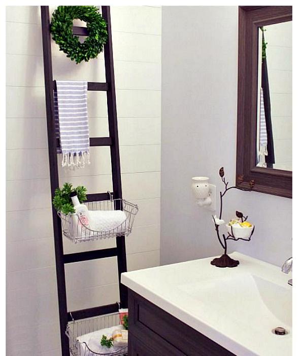 Стеллаж-лестница в ванной rjvyfnt.