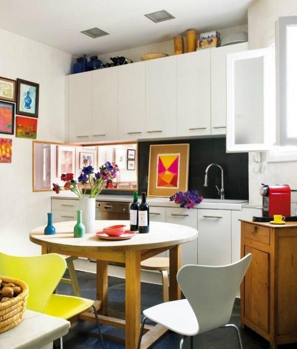 Кухня в стиле эклектика.