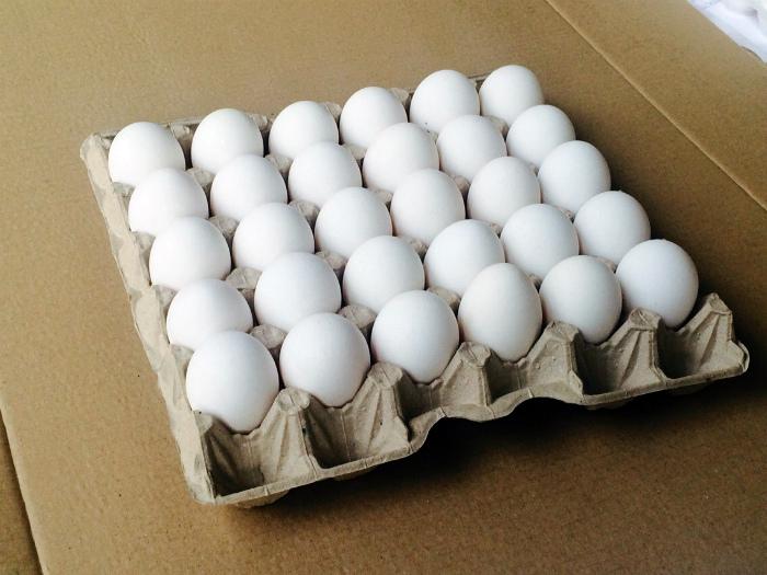 Сырые яйца.