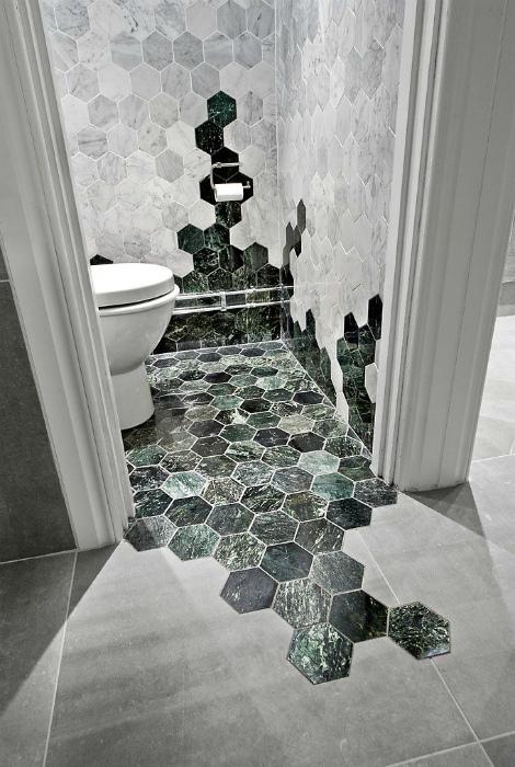 Плитка контрастных оттенков. | Фото: Pinterest.