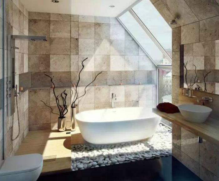 Ванная комната в стиле СПА.