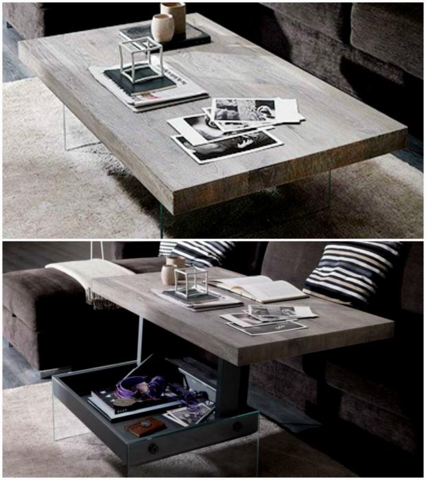 Стильный подъемный столик. | Фото: musicisaweapon.org