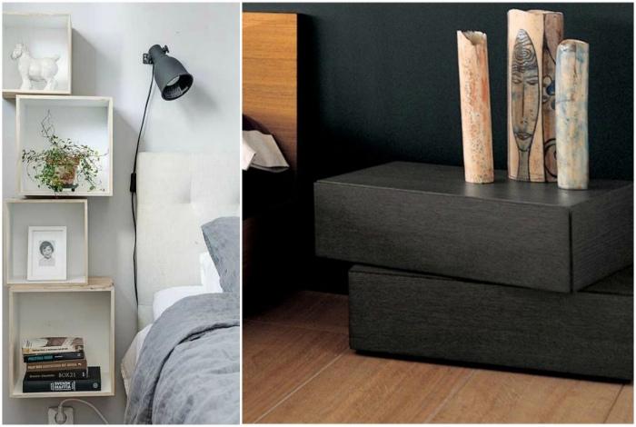 Замените прикроватные тумбочки на более оригинальные варианты. | Фото: Mundo Club House.