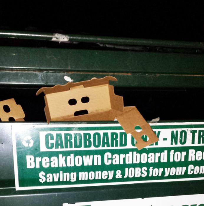 Обескураженная коробка.
