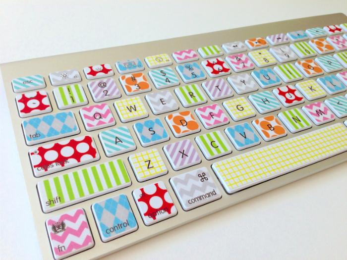 Декор клавиатуры.