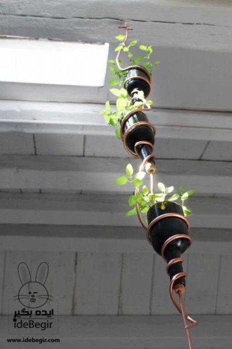 Оригинальные многоярусные цветочные горшки станут прекрасным украшением любого дома.