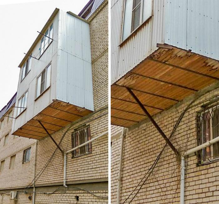 Боюсь, что вскоре эти балконы достанутся нижним этажам.