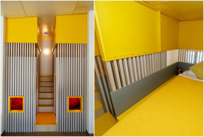 Отдельные спальные блоки для малышей. | Фото: Квартирный вопрос.