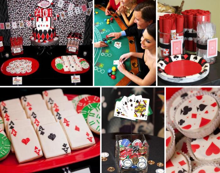 Приготовьте изысканные коктейли и закуски, покройте стол зеленой тканью, если есть возможность, установите игрушечную рулетку. Играйте в покер, карты или кидайте кости на желание.