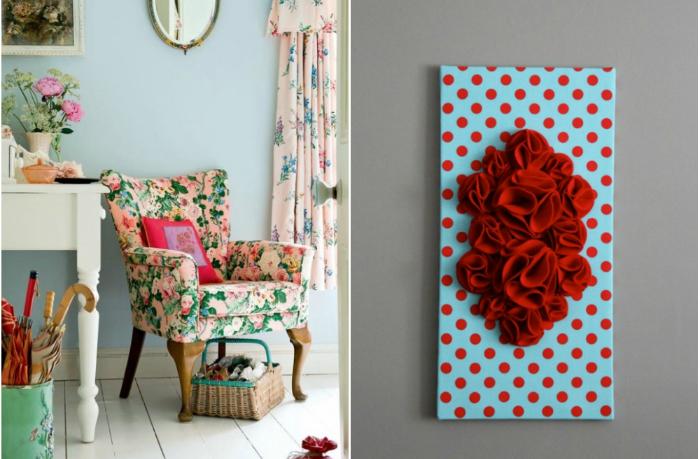 Идеи летнего декора с цветочными элементами.