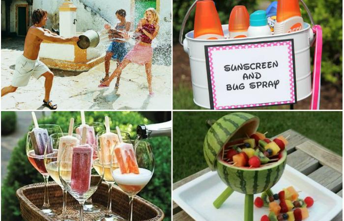Полезные идеи для летней вечеринки.