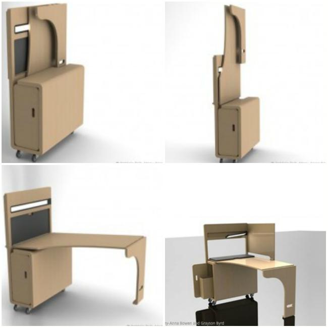 Стол студии дизайна Storable отлично подходит студентам с ограниченным местом для работы.