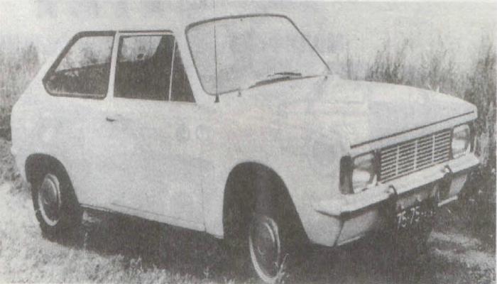 Первый опытный экземпляр Таврии, изготовленный запорожским автомобильным заводом в 1970 году.