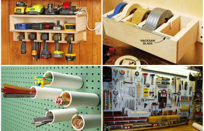 В каждом гараже есть множество нужных мелочей и для каждой из них свой способ хранения.