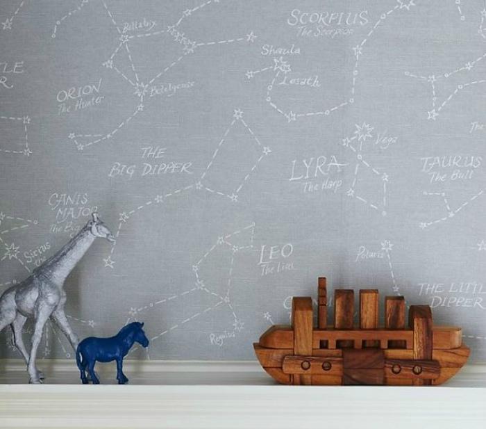 Можно изучать созвездия на стене.