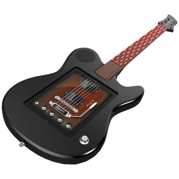 Необычная функциональная электронная гитара, предназначенная специально для работы совместно с Apple Ipad под названием - SynthX iPad Guitar.