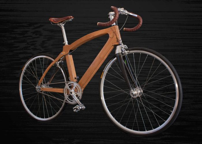 Удобный бамбуковый велосипед для городских условий.