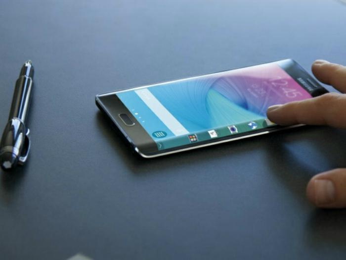 Новый удивительный смартфон с изогнутым экраном под названием - Samsung Galaxy S6 Edge.