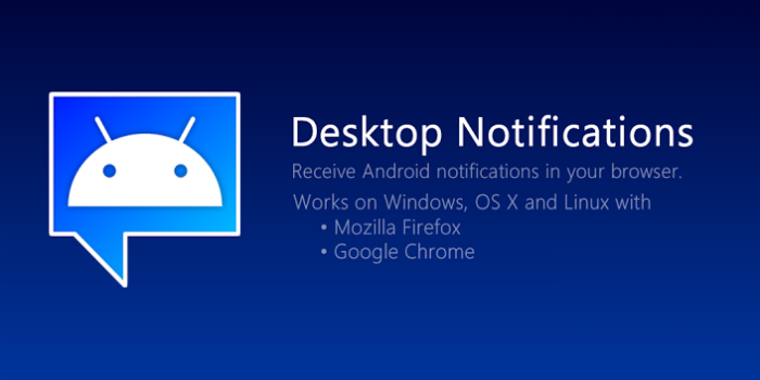 Функциональное мобильное приложение под названием - Desktop Notification.