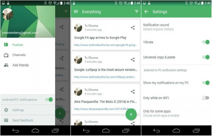Функциональное мобильное приложение под названием - Pushbullet.