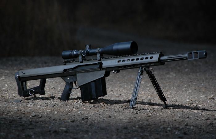 Снайперская винтовка под названием - Barrett M82.