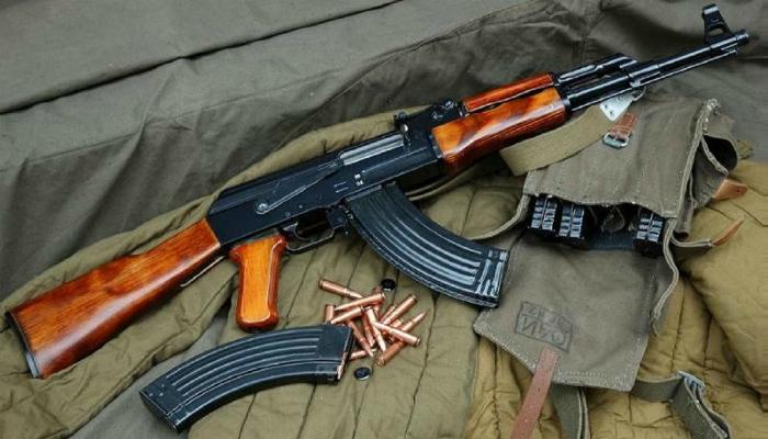 7,62-мм автомат Калашникова под названием - АК-47.
