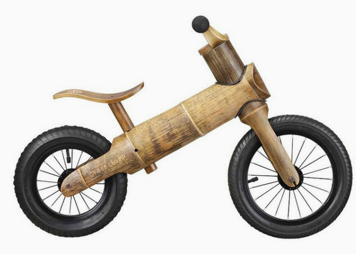 Беспедальный велосипед из растительных материалов, который  идеально подходит для малышей.