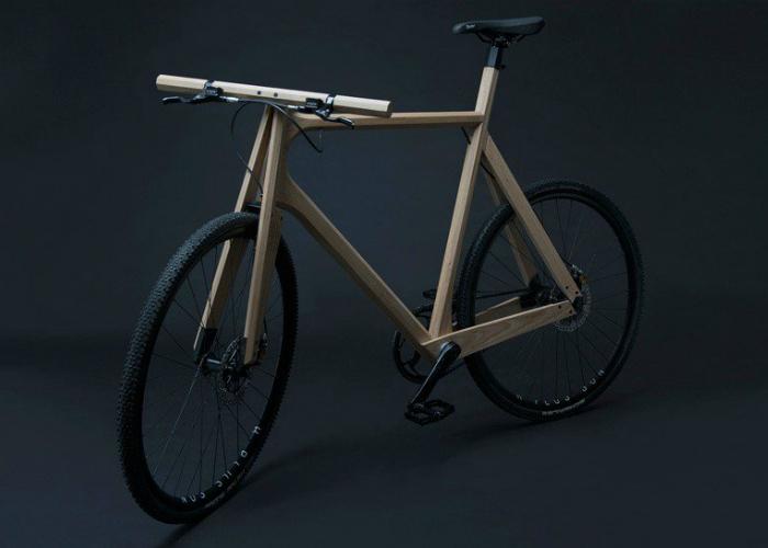 Оригинальный деревянный велосипед, разработанный дизайнером Полом Тиммером.