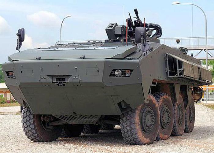 Маневренный сингапурский бронетранспортер под названием - Terrex.