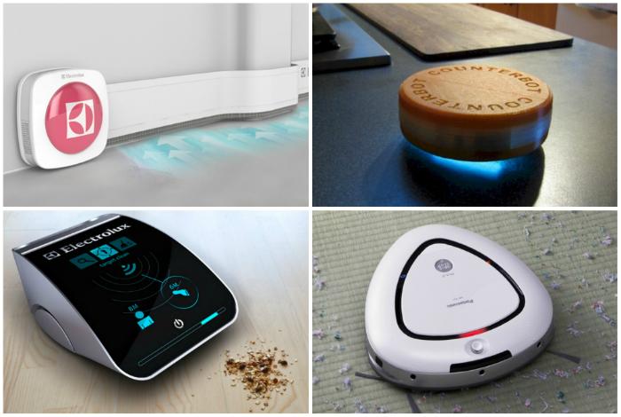 Концепты  умных роботизированных пылесосов.