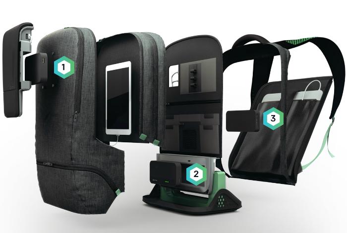 Удобный многофункциональный рюкзак док станция под названием - AMPL.