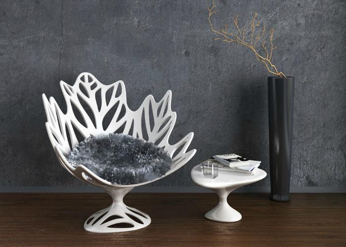 Украинский 3D-дизайнер Ольга Шевченко создала кресло в форме кленового листа, которое талантливо имитирует основные знаковые элементы одного из самых красивейших подарков природы.